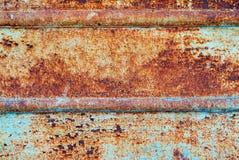 Плита металла ржавая на всей предпосылке Стоковые Изображения RF