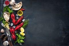 Плита моллюска ракообразных морепродуктов Стоковые Изображения RF