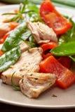 Плита мяса и овощей цыпленка Стоковые Изображения