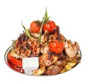 Плита, мясо Стоковое фото RF