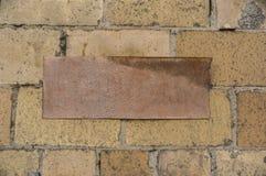 Плита на стене Стоковое Фото