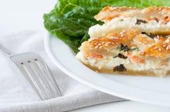 Плита обедающего пирога рыб Стоковая Фотография RF