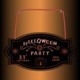 Плита логотипа черная на хеллоуин Стоковые Фотографии RF