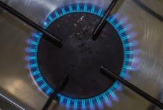 Плита освещенного газа Стоковая Фотография