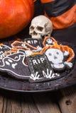 Плита печений сахара хеллоуина Стоковые Изображения RF