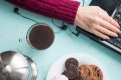 Плита печений с fudge шоколада и зефиром на backg Стоковое Изображение