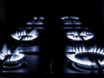Плита печи газа домочадца Стоковое Изображение