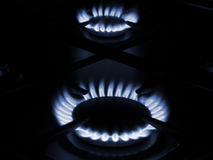 Плита печи газа домочадца Стоковые Изображения RF