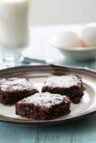 Плита 3 пирожных с яичками и молоком Стоковое Изображение RF