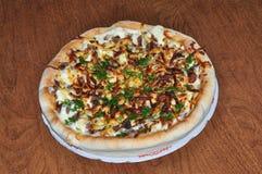 плита пиццы круглая Стоковое Изображение