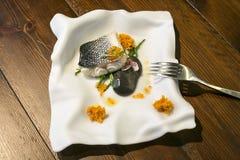 Плита плиты рыб стоковое изображение