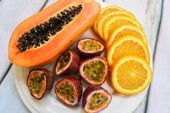 плита плодоовощ тропическая Стоковые Фото