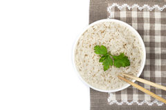 Плита сваренного риса Стоковое Изображение