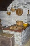 Плита сельской местности традиционного китайския варя Стоковое Изображение