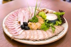 плита сортированная закусками Стоковая Фотография RF