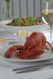 Плита с едой омара Стоковое Изображение