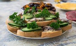 Плита с сандвичами Стоковое фото RF