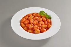 Плита с частью вареников томата Стоковое Фото