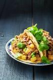 Плита с taco стоковые фотографии rf