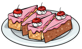 Плита тортов иллюстрация вектора