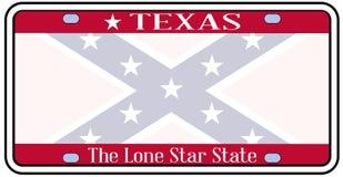 Плита флага Confederate Техаса Стоковые Фотографии RF