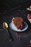 плита части шоколада торта Стоковые Изображения RF