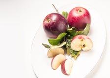 Плита Яблока, свежая Стоковые Изображения