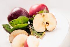Плита Яблока, свежая Стоковые Фотографии RF