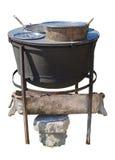 Плита для варить в воде - ванна Изолированный на белом backgroun Стоковое Изображение