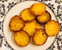 Плита pastéis делает Egipto (торты от Египта), традиционные португальские помадки стоковое фото rf