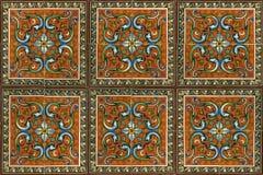 Плитка года сбора винограда стены Стоковое Изображение