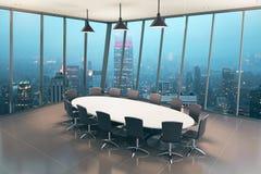 Плитка интерьера зала заседаний правления Стоковые Фото