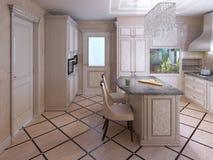 Плитка оформления в современной кухне Стоковые Фото