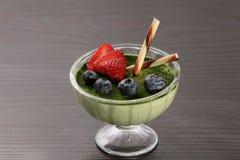 Плитка Panna зеленого чая стоковая фотография rf