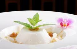 Плитка panna кокоса с кислым манго стоковое изображение