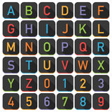 Плитки алфавита иллюстрация штока