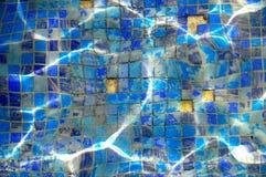 Плитки бассейна нижние отсутствующие Стоковое Фото