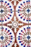 Плитки винтажного стиля испанского языка керамические Стоковые Фото