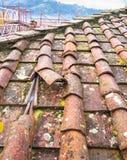 Плитки глины крыши Стоковые Фото