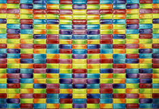 Плитки мозаики цвета капсулы конфеты стоковое изображение rf