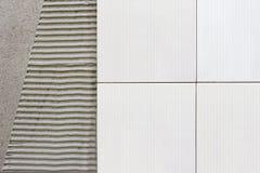 Плитки огораживают с цементным раствором Стоковое Фото