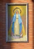 Плитки показывая St Mary стоковое фото rf