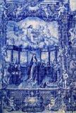 Плитки Португалии, голубых и белых керамические Azulejo Стоковое Фото