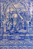 Плитки португалки Azulejos Стоковые Фото