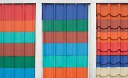 плитки плитки текстуры крыши предпосылки устарелые старые красные Стоковое Изображение RF