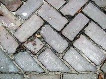 Плитки улицы закрывают вверх текстурированная предпосылка Стоковое Изображение RF