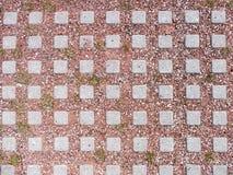 Плитки улицы с красной глиной и камешками закрывают вверх Стоковые Фотографии RF