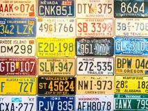 Плиты автомобиля от Соединенных Штатов Стоковые Фотографии RF