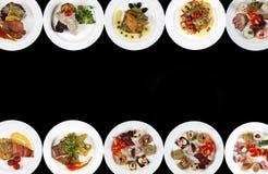 Плиты еды, космоса экземпляра Стоковая Фотография RF