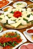 Плиты и завтраки сыра стоковое фото